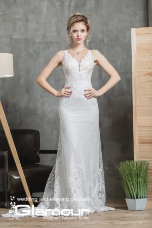 Catch lace wedding dress TATYANA SINKO