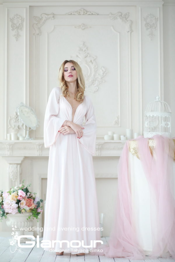 bridesmaid dress boho A-line dress Sinko designer, silk dress, Boho wedding dress Sinko designer, wedding dresses with sleeves