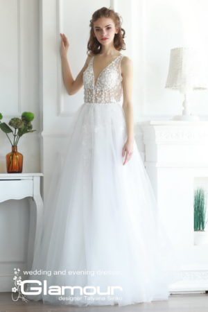 Elsa WDl-127 tulle wedding dress SINKO