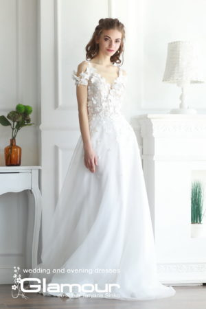 FLOWER WDl-119 lace wedding dress SINKO