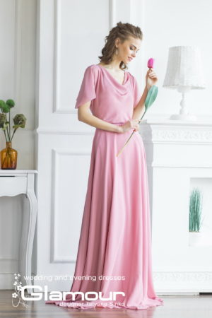 long evening dress, light long dress, wedding and evening dresses SINKO-bridal, junior bridesmaid dress, TULIP pink chiffon dress in bulk SINKO
