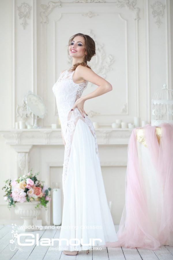 свадебное платье с кружевными вставками, свадебное платье кружевное SINKO-bridal dresses, SINKO-bridasleeveless wedding dress, lace wedding dress, BUTTERFLY wedding dress Sinko designer, lace wedding dress SINKO SV-GLAMOUR